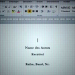 Hilfe bei der Bucherstellung: Word Formatvorlagen