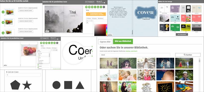 Buchcover online selbst gestalten mit dem epubli Cover Designer