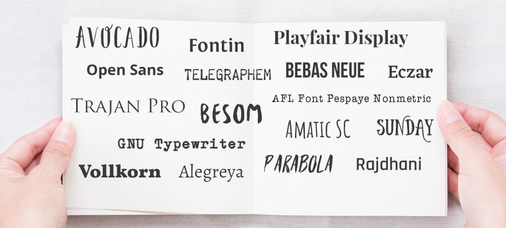 Neue Schriften im Cover Designer!